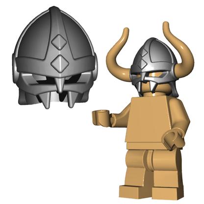 Minifigure Helmet - Viking Helmet Horned Viking Helmet Goblin Rocket Helmet