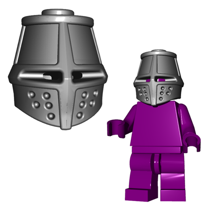 Minifigure Helmet - Great Helm Horned Viking Helmet Goblin Rocket Helmet