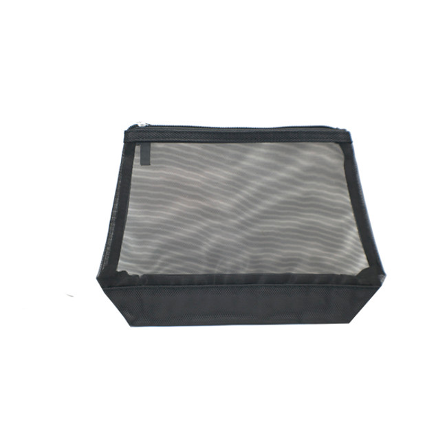 Black Ballistic Mesh Cosmetic Bag