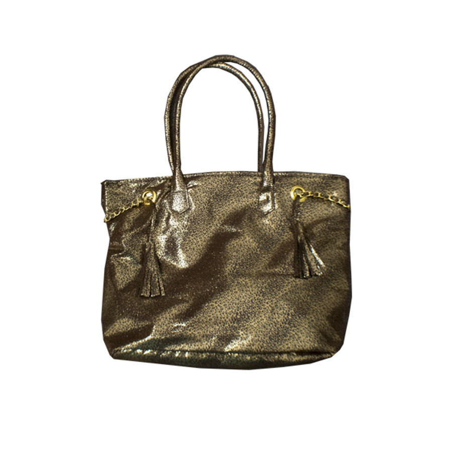 Gold/Black Animal Print Tote