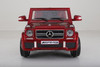Mercedes g65 red ride on car