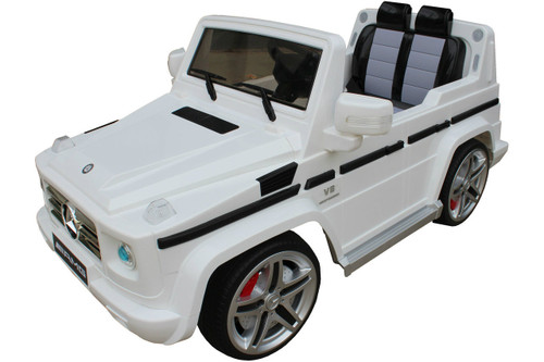 Mercedes g55 white ride on car for kids