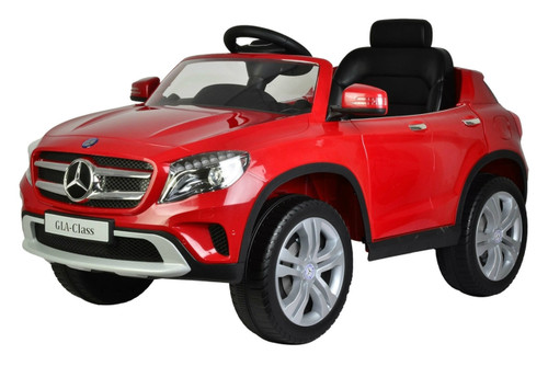 Mercedes GLA red 12V power battery car with soft wheels for girls