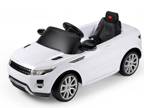 Range rover white power battery car with LED wheels