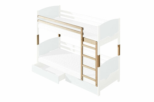 Bunk Bed Trio | White