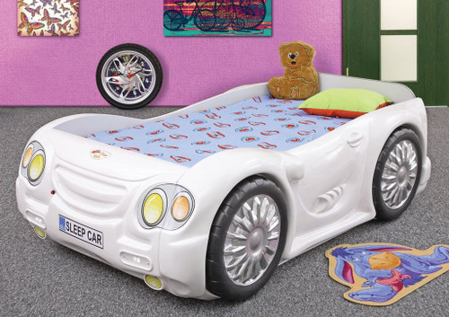 Sleep Car Bed For Kids | White