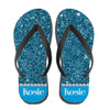 Personalized Blinged Out Babe Flip Flops Aqua