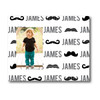 Personalized Name Game Picture Frame: Mustache Mania