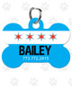 Personalized Pet Tag: Chicago Flag Bone