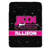 Personalized Jedi In Training Blanket Pink