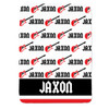 Personalized Name Game Guitar Blanket Red