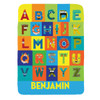 Personalized Beastly Boy Monster Alphabet Blanket