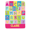 Personalized Beastly Babe Monster Alphabet Blanket