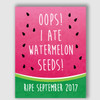 Watermelon Seeds Pregnancy Announcement Sign