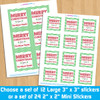 Personalized Classic Christmas Stickers