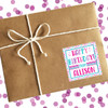 Personalized Happy Birthday Stickers: Pastel Multi Dots
