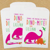 Personalized Paper Favor Bags: Dino-Mite Birthday Pink