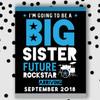 Rockstar Big Sister Announcement Sign