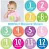Monthly Milestone Baby Stickers: Pastel Pinks