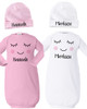 Personalized Miss Audrey Baby Gown Set