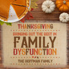 Personalized Family (Dys)Functions Thanksgiving Jute Placemat