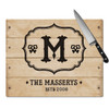 Personalized Chic Antique Cutting Board
