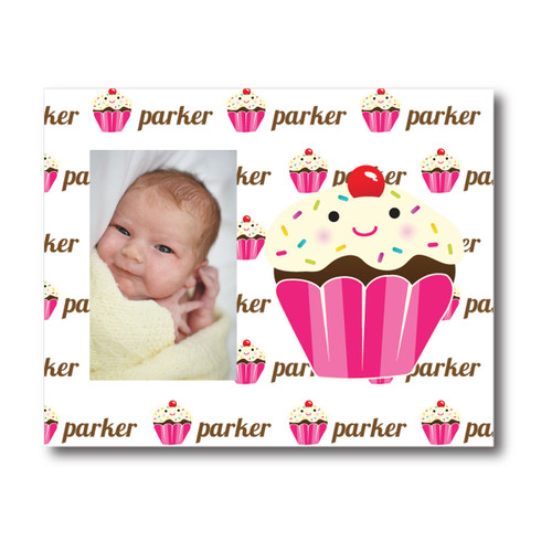 Personalized Name Game Picture Frame: Cupcake