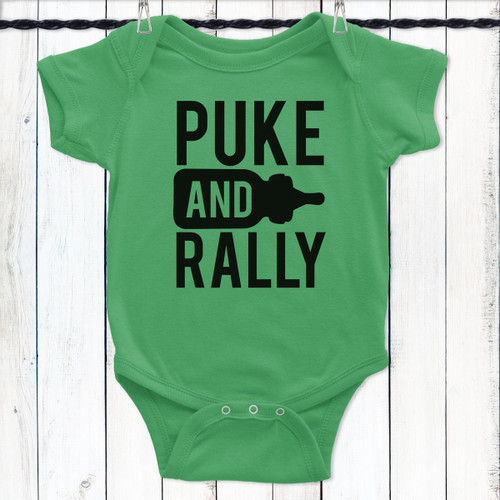 Puke And Rally Baby One-Piece