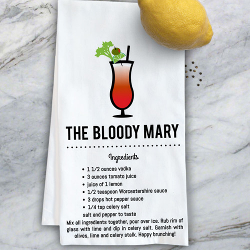 In Fine Spirits Kitchen Towel: Bloody Mary