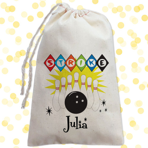 Personalized Party Favor Bag: Bowling
