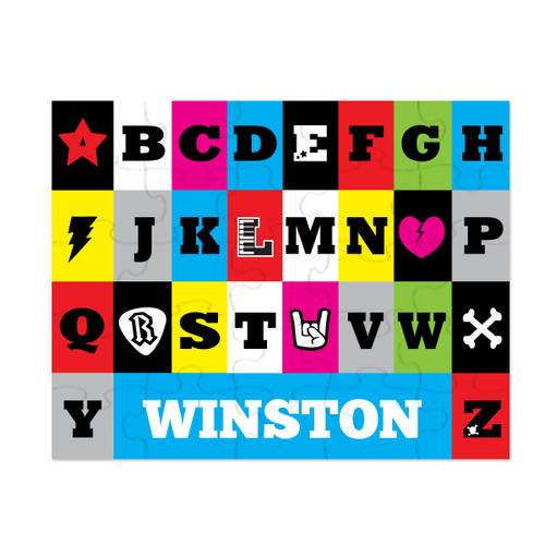 Personalized Rockin' ABCs Puzzle