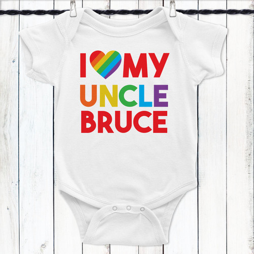 Personalized Rainbow Love Baby Shirt: Uncle