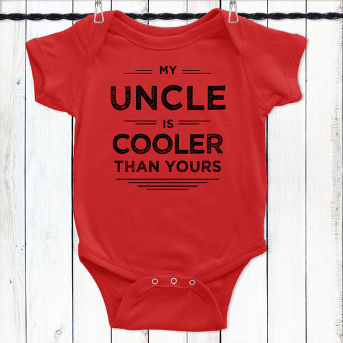 My Uncle Is Cooler Baby Shirt