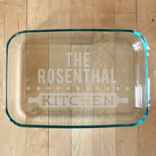 Personalized Home Cooking Glass Baking Dish & Custom Cookware | Personalized Pie Plates | Personalized Pyrex Bakeware