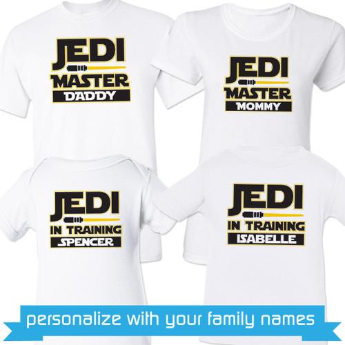 Personalized Jedi Family Shirts