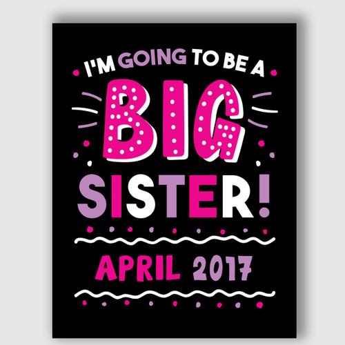 Printable Big Sister Announcement Sign