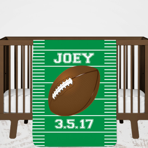 Personalized Football Baby/Toddler Blanket