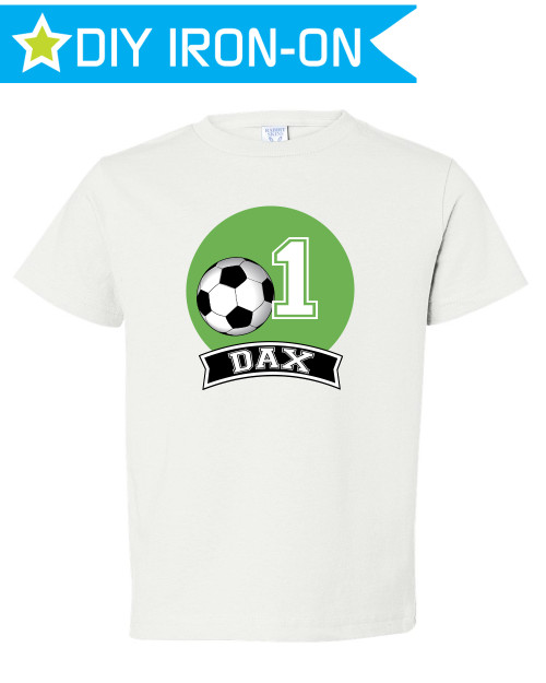 Personalized Soccer Birthday T-Shirt Iron-On Transfer for Kids