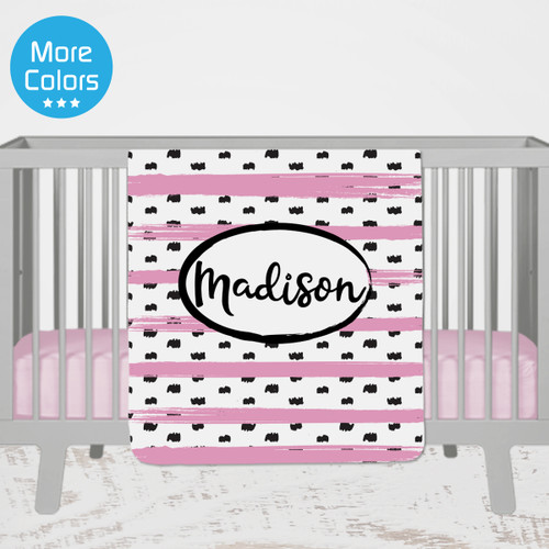 Personalized Name Blanket  - Pastel Stripe