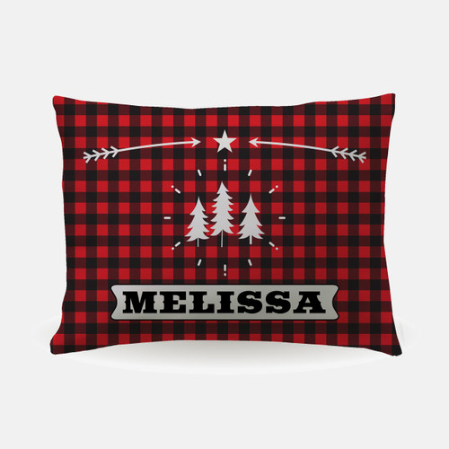 Personalized Perfectly Plaid Pillowcase