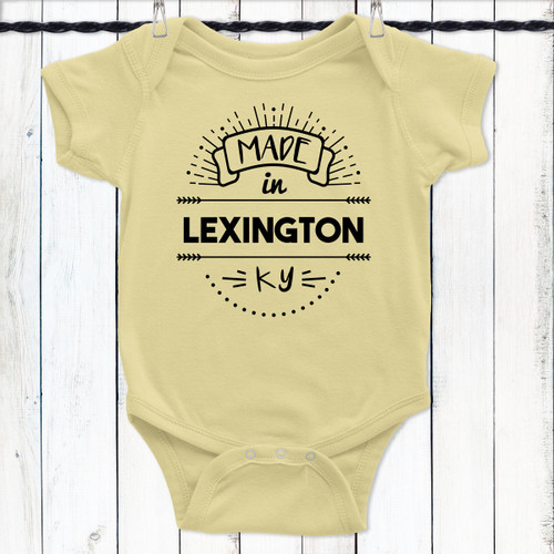 Custom City & State Baby Clothing