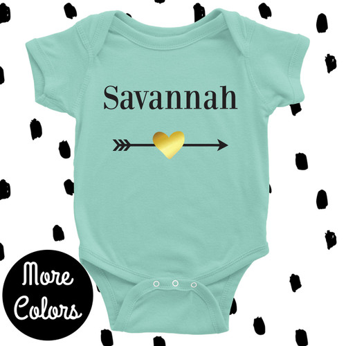 Cool baby clothes personalized baby gifts cool baby shower gifts personalized heart arrow baby shirt negle Choice Image