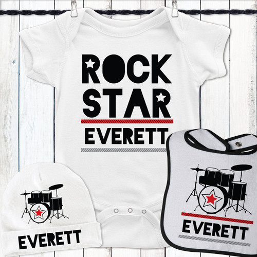 Personalized Drum Superstar Gift Set Red