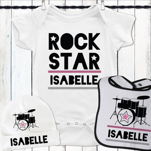 Personalized Drum Superstar Gift Set Pink