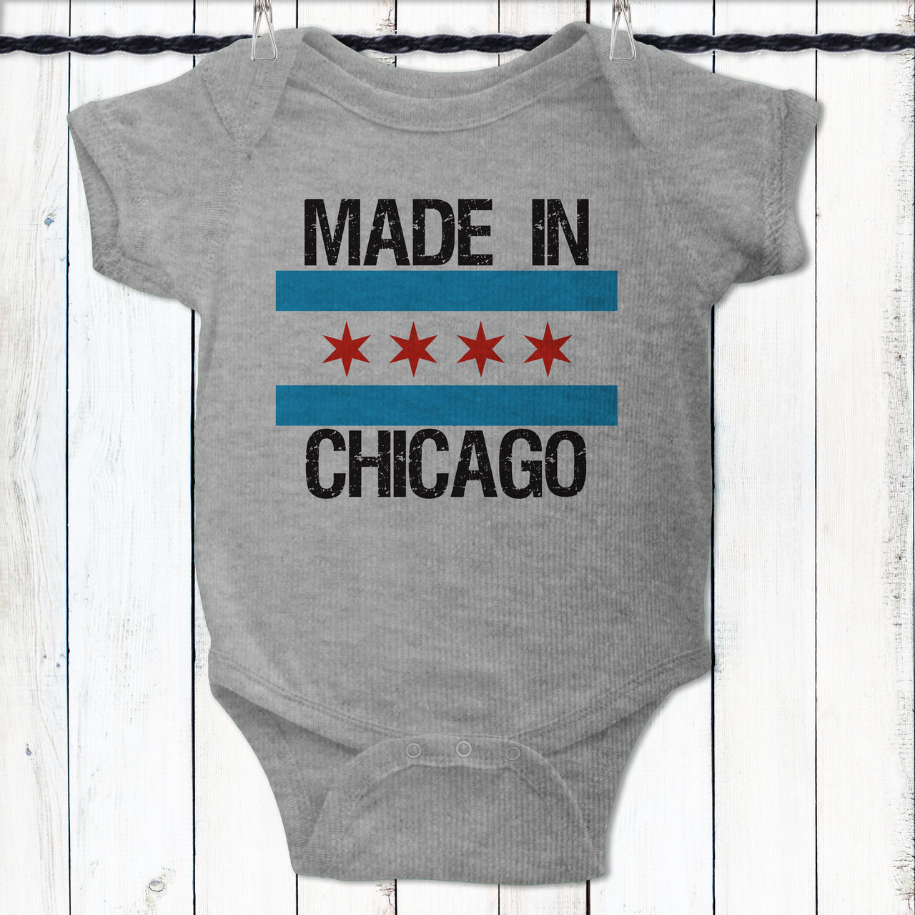 Personalized made in chicago baby shirt negle Gallery