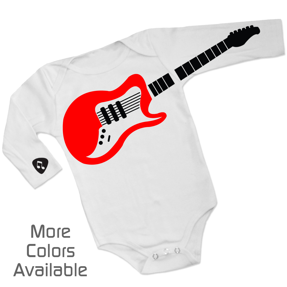 Personalized guitar playing baby one piece negle Choice Image