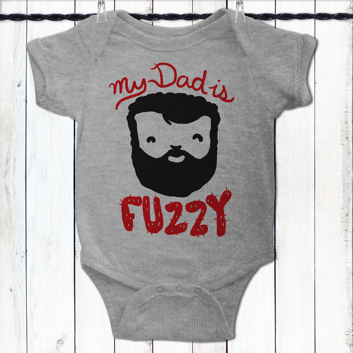 My Dad Is Fuzzy Baby Shirt