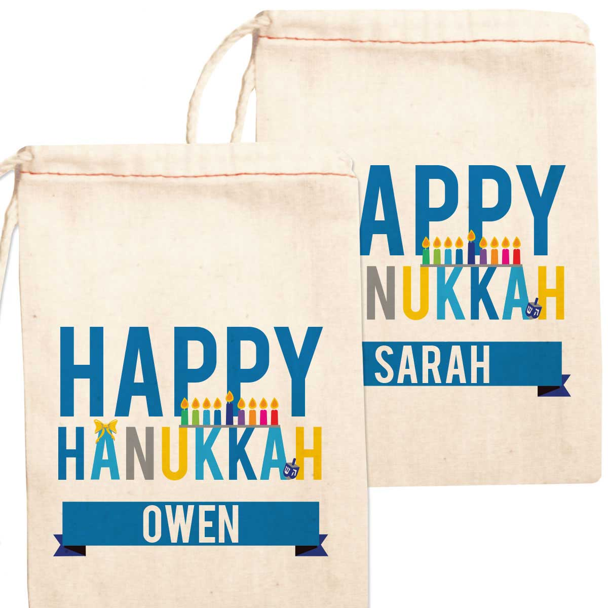 Personalized gift bag happy hanukkah negle Gallery
