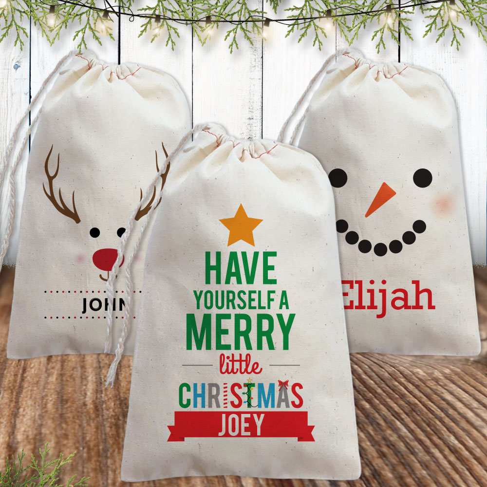 Personalized Christmas Favor Bags and Gift Bags
