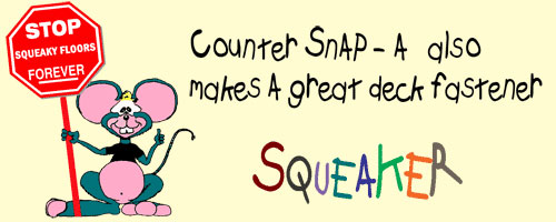 Squeaker the Mouse on Counter-Snap
